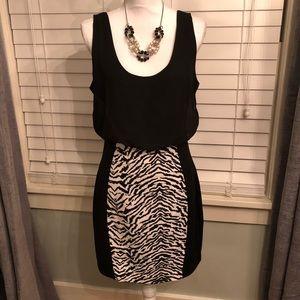 Express Dress Black & White NWT